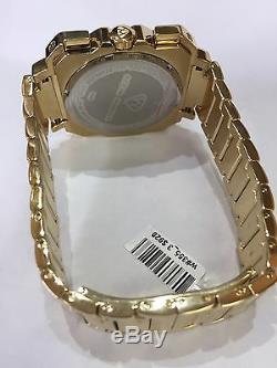 Hommes Aqua Master Jojo Jojino Joe Rodeo Bande En Métal Jaune Montre Diamant 45mm L # 355
