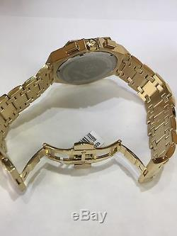 Hommes Aqua Master Jojo Jojino Joe Rodéo Bracelet En Métal Jaune Montre À Diamants 48mm L # 356