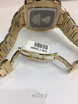Hommes Aqua Master Jojo Jojino Joe Rodéo Bracelet En Métal Jaune Montre À Diamants 51mm L # 354