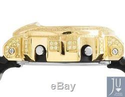Hommes Casio G Shock 6900 Plaqué Or Jaune Canari Lab Diamond Watch 5.5 Ct