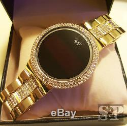 Iced Hip Hop Écran Tactile Numérique Plaqué Or Diamond Smart Lab Montre En Métal