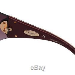 Imperiale Sch-chopard 883 Femmes 23kt En Or Plaqué Jeweled Lunettes De Soleil Bouclier