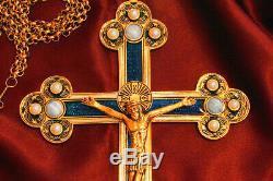 Indiana Jones Croix Réplique De Coronado! 24k Plaqué Or Métallique