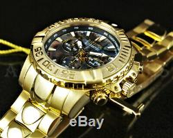 Invicta 47mm Subaqua Noma II Ormeaux Dial Ltd Ed 18k Plaqué Or Bracelet
