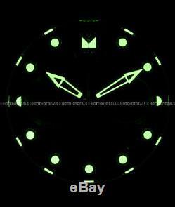 Invicta 48mm Mens Pro Scuba Diver Chronographe Cadran Noir Plaqué Or Ip Pu Montre