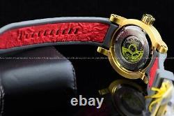 Invicta 48mm S1 Yakuza Dragon Automatique Gun Metal Or Plaqué Gris 28180 Montre