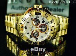 Invicta 50 MM Excursion Twisted Metal Suisse Chrono Poli 18k Ip Gold Montre