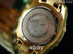 Invicta 50mm Hommes Pro Diver Scuba Chrono Fibre De Carbone Noir 18k Gold Plated Watch