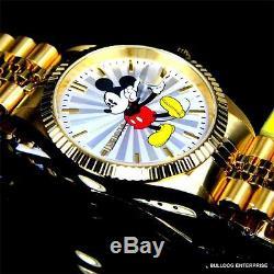 Invicta Disney Mickey Mouse En Acier Plaqué Or 18 Carats Steel Limited Ed Nouvelle Montre
