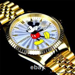 Invicta Disney Mickey Mouse Steel 18kt Gold Plated Steel Limited Ed Watch Nouveau