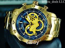 Invicta Hommes 50 MM Pro Plongeur 3.0 Chronographe Cadran Bleu Plaqué Or 18 Carats Montre
