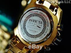 Invicta Hommes 50 MM Pro Plongeur Chrono D'or En Fibre De Carbone Plaqué Or 18 Carats Montre