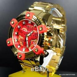 Invicta Marvel Iron Man Grand Indice D'octane Élevé Plaque D'or Polonaise 58mm Horlogère Suisse Nouveau