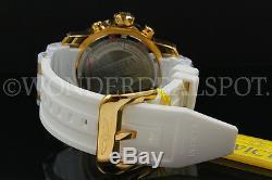 Invicta Pro Scuba Diver 48mm 18k Plaqué Or Chrono Cadran Noir S. S Montre Nouveau