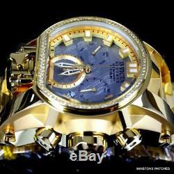 Invicta Reserve Magnum Météorite Swiss Diamond Mvt Plaqué Or 52 MM Montre Nouveau