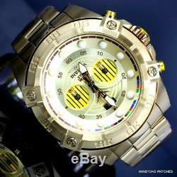 Invicta Star Wars C-3po Plaqué Or Chronographe En Acier 52 MM Edition Limitée