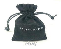 Jenny Bird Oria Leather & Mixed Metal 14k Collier De Collier Plaqué Or +sac De Poussière