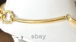 Julie Vos Valencia 24k Gold Plated Reversible Mop Coin Choker Collier