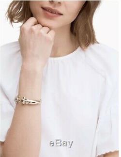 Kate Spade New York, 12 K Plaqué Or Chiot Manchette Withks Hinged Sac À Poussière Nouveau