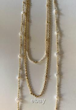 Kendra Scott Collier Écarlate Plaqué Or Collier Multi Brins En Perles Blanches