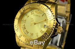 La 40mm Invicta Pro Diver Accent De Diamants Suisse Plaqué Or 18 Carats Braclet Montre