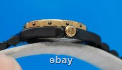 Ladies Tag Heuer 3000 2 Tons 18k Gold Plate & Black Pvd Montre Black Dial