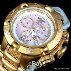Lady Subaqua Noma V Invicta Swiss Made Plaqué Or Rose Rose Mop 42mm Nouvelle Montre