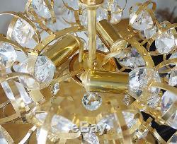 Lampe À Suspension Palwa Sputnik Chandelier En Cristal Doré, Allemagne, 1960s