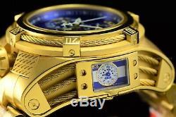 Le 56mm Invicta Bolt Zeus Tria Plaqué Or Bleu Choronograph Horlogère Suisse