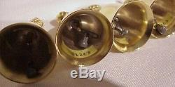 Limited Edition Reed & Barton 22k Plaqué Or (12) Days Of Christmas Bells Set
