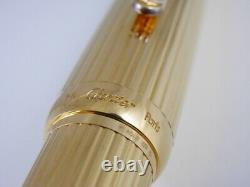 Louis Cartier Gold Plated Fountain Pen F (excellent) Livraison Gratuite Dans Le Monde Entier