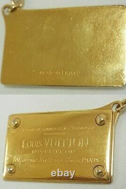 Louis Vuitton Bag Charm Porte-clés Porte-clés Chaîne D'or Gp Authentique