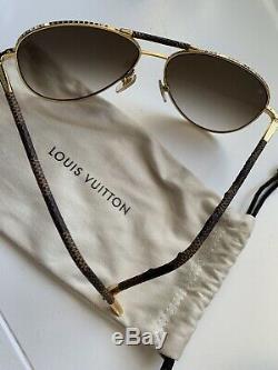 Louis Vuitton Lunettes De Soleil Z0202u Conspiracy Toile Damier X Plaqué Or 58 15