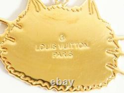 Louis Vuitton Porte Cles Chenne Mp2285 Chaîne À Clés De Charme Catgram Plaqué Or