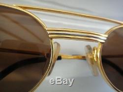 Lunettes De Soleil Vintage Cartier Vendôme Must Gold 55mm Elton John France Dur
