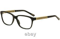 Lunettes De Vue Chopard Vch 181s 181/s 700y Black/23kt Cadre Optique Plaqué Or 53mm