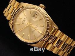 Mens Rolex En Or Jaune 18 Carats Solide Datejust Withgold Plaqué Président Style Bracelet