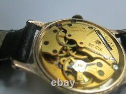 Mens Vintage Smiths Astra Montre Avec La Boîte 17 Bijoux 27cs 112 Plaque D'or