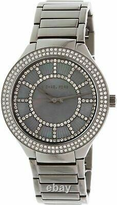 Michael Kors Mk3410 Kerry Gris Crystal-set Dial Ladies Gunmetal Plaqué Montre