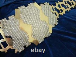 Millennium Dollar Championship Gold Belt 4mm Plaques Métalliques En Laiton, Plaqué Or