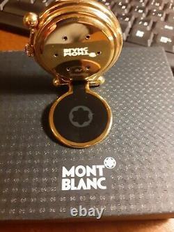 Mont Blanc Meisterstuck Horloge De Voyage Plaqué Or Fabriqué En Suisse 5707