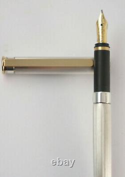 Montblanc Noblesse Cartouche Pen, En Argent Métal, Or 18k Fountain Pen F