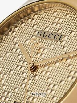 Montre Gucci G-timeless 38mm Unisex Gold Pvd Plaqué Mod. Ya126461a