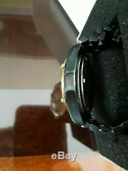 Montre Tag Heuer 2000 Professional À Quartz Date Plaquée Or, Bracelet En Métal Noir