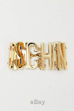 Moschino Tv H & M Collier En Métal Plaqué Or Avec De Grandes Lettres Sold Out