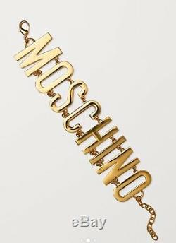 Moschino X H & M En Plaqué Or Exclusif Logo Collier Ras Du Cou