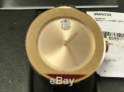Movado 3600202 Suissesses Téméraire Bangle Or Rose Ion Plaqué Watch Nouveau
