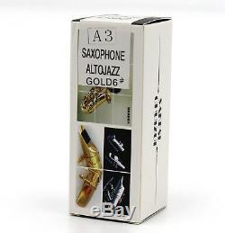 Musique Orientale New Gold Métal Plaqué Taille Du Bec Saxophone Alto 5-8 Pour Jazz