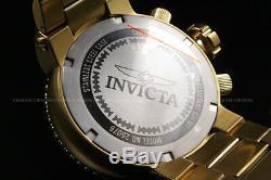 New Invicta Men Pro 52mm Diver Seal Combat 18 K Plaqué Or Chrono S. S Montre