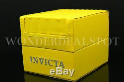 New Invicta Menaviator 18k Plaqué Or Cadran Bleu Tachy S. S Chrono Bracelet